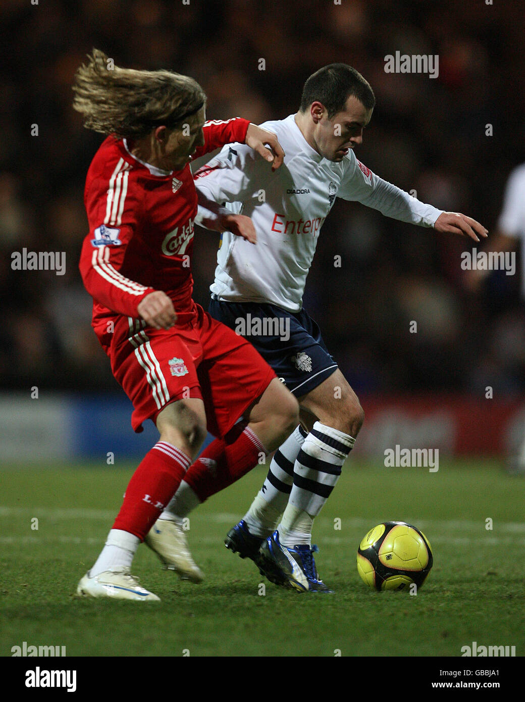 Soccer - FA Cup - Third Round - Preston North End v Liverpool - Deepdale - Stock Image