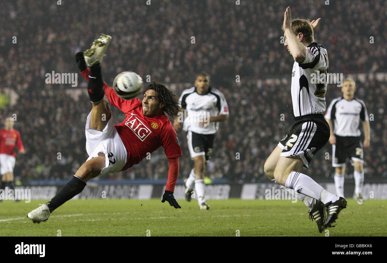Soccer - Carling Cup - Semi Final - First Leg - Derby County v Manchester United - Pride Park - Stock Image