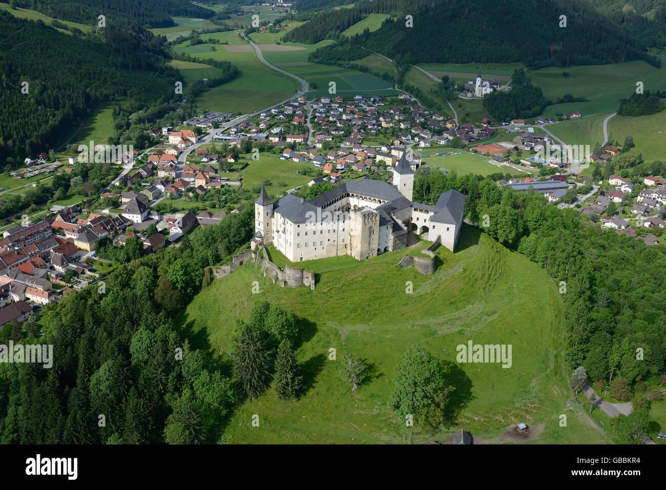 STRASBURG CASTLE (aerial view). Carinthia, Austria. - Stock Image