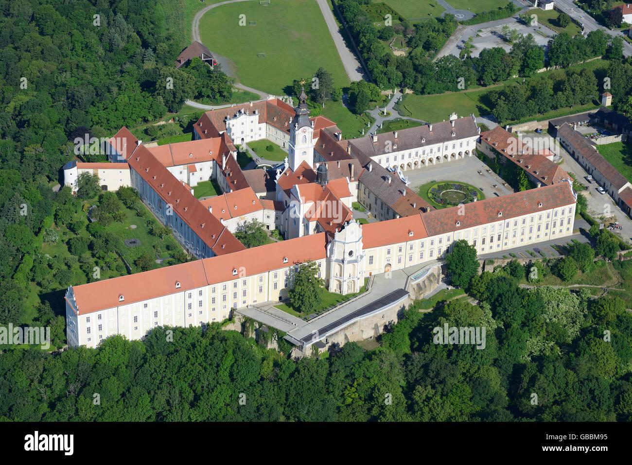 ALTENBURG ABBEY (aerial view). Lower Austria, Austria. - Stock Image