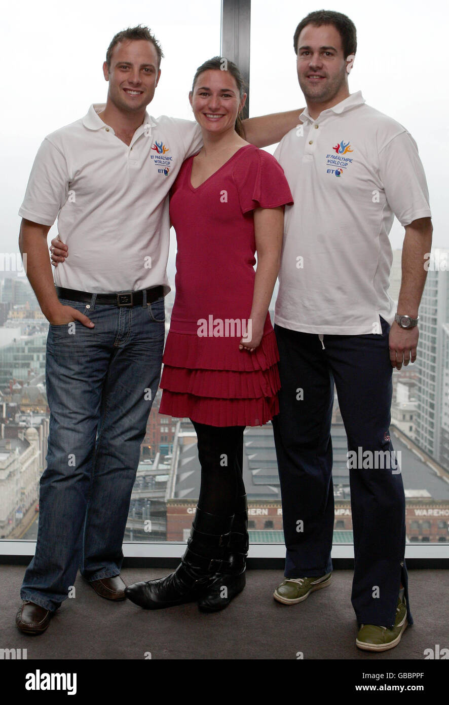 Paralympics - World Cup Launch 2009 - Hilton Hotel - Stock Image
