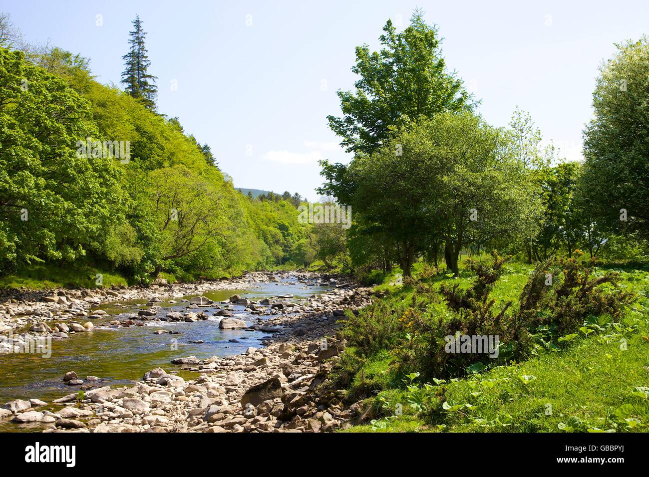 South Tyne river. Alston, Cumbria, England, United Kingdom, Europe. - Stock Image