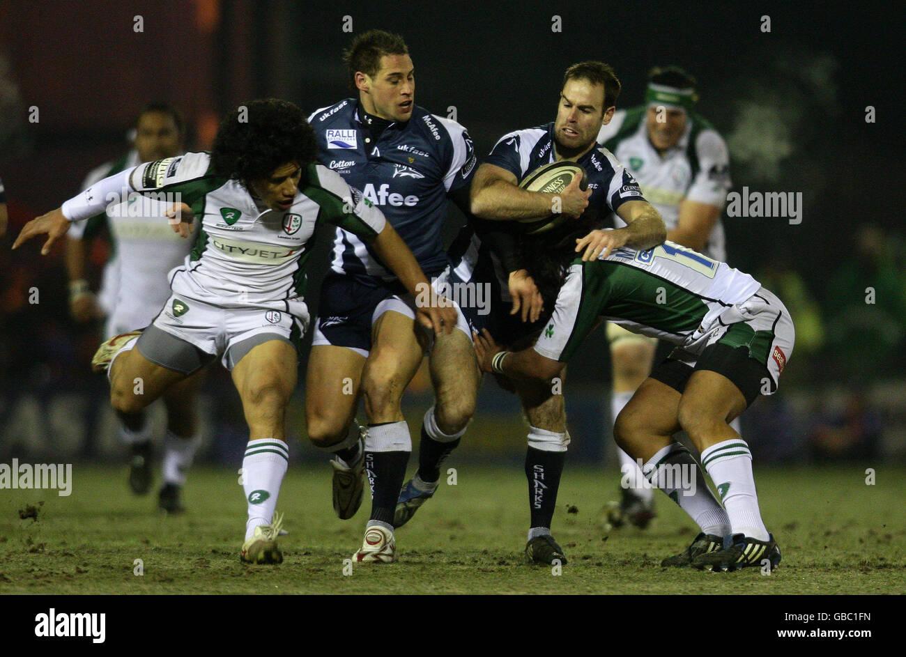 58de0796d4a Rugby Union - Guinness Premiership - Sale Sharks v London Irish - Edgeley  Park
