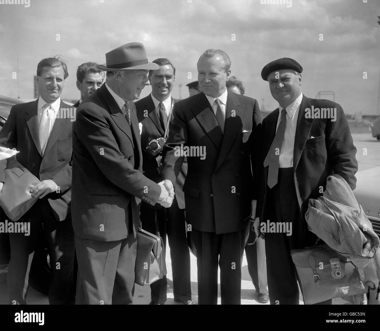 Politics - Hugh Gaitskell and Aneurin Bevan - 1959 - Stock Image