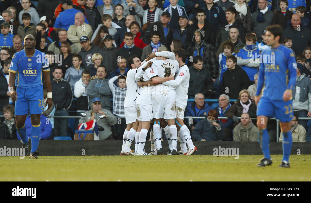 Soccer - FA Cup - Fourth Round - Portsmouth v Swansea City - Fratton Park Stock Photo