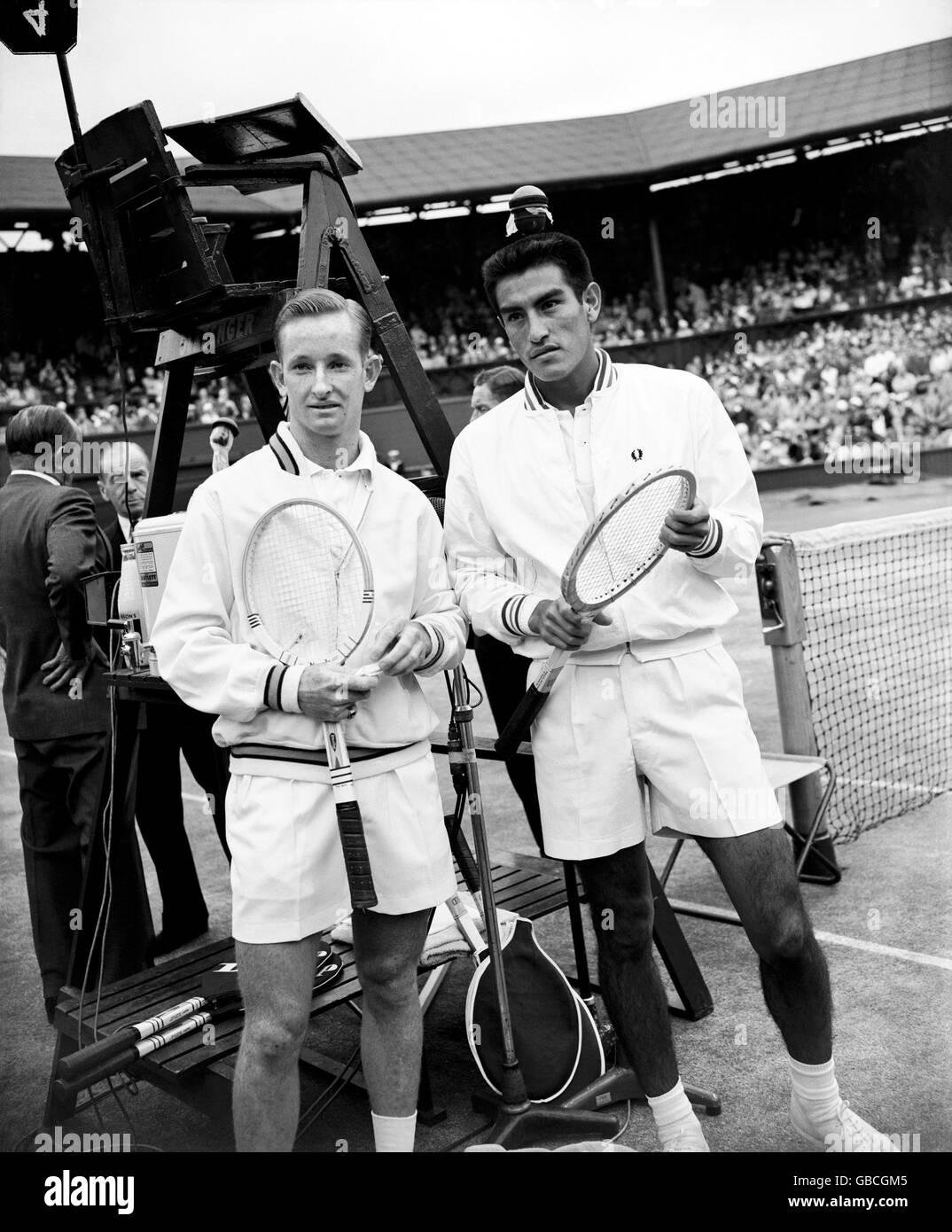 Tennis - Wimbledon Championships - Men's Singles - Final - Alex Olmedo v Rod Laver - Stock Image