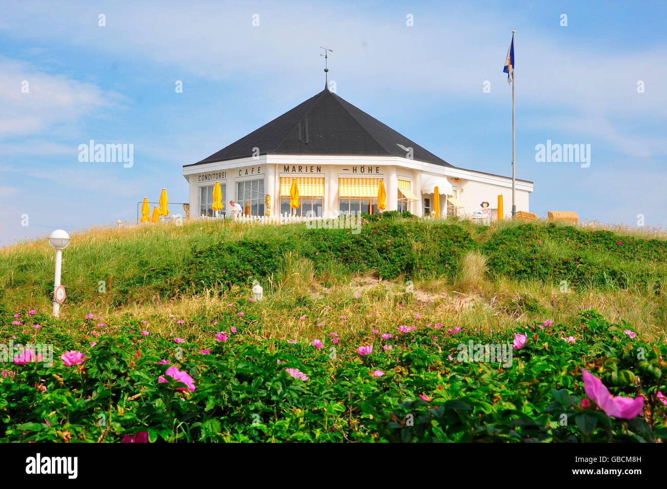 Pavillon, UNESCO-Welterbe, Norderney, Strandcafe, Marienhoehe, Niedersachsen, Deutschland / Marienh÷he Stock Photo