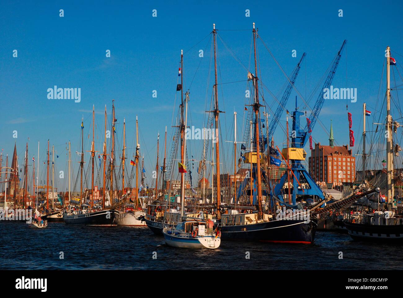 Sommer, Ostsee, Segelhafen, Binnenhafen, Hansestadt, Rostock, Mecklenburg-Vorpommern, Deutschland Stock Photo