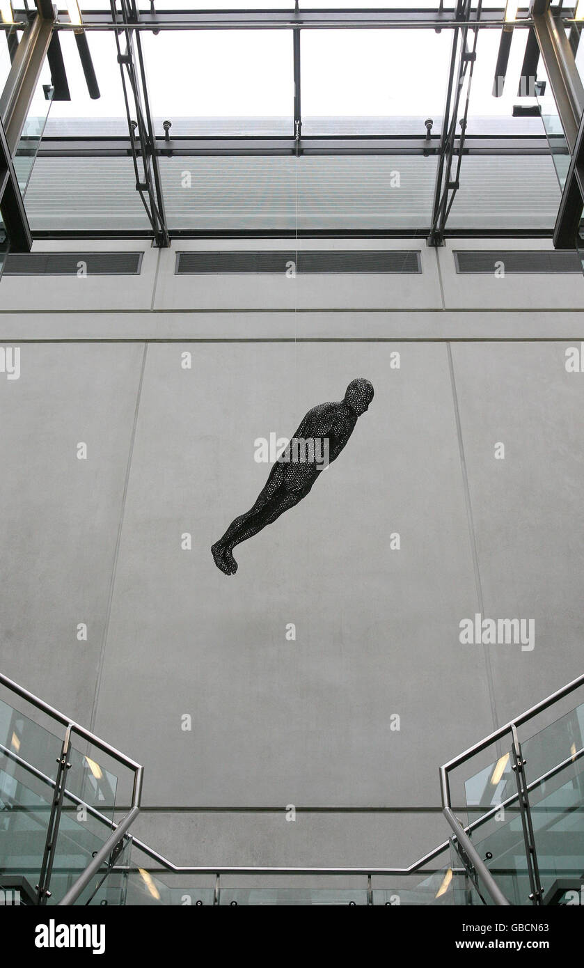 Antony Gormley sculpture on display Manchester City Art Gallery - Stock Image