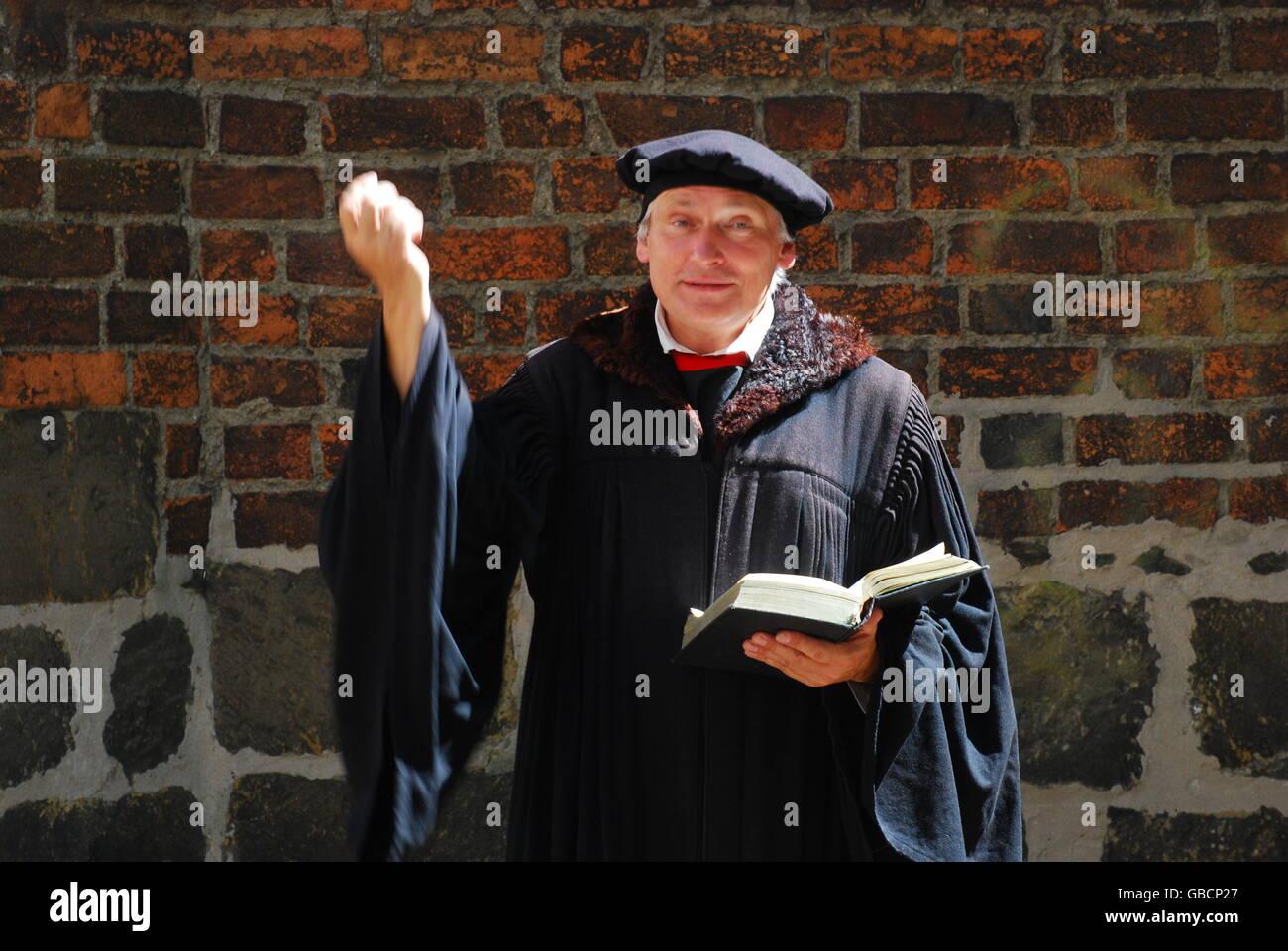 Darsteller, Schauspieler, Martin Luther, Reformator, Wittenberg, Sachsen-Anhalt Stock Photo