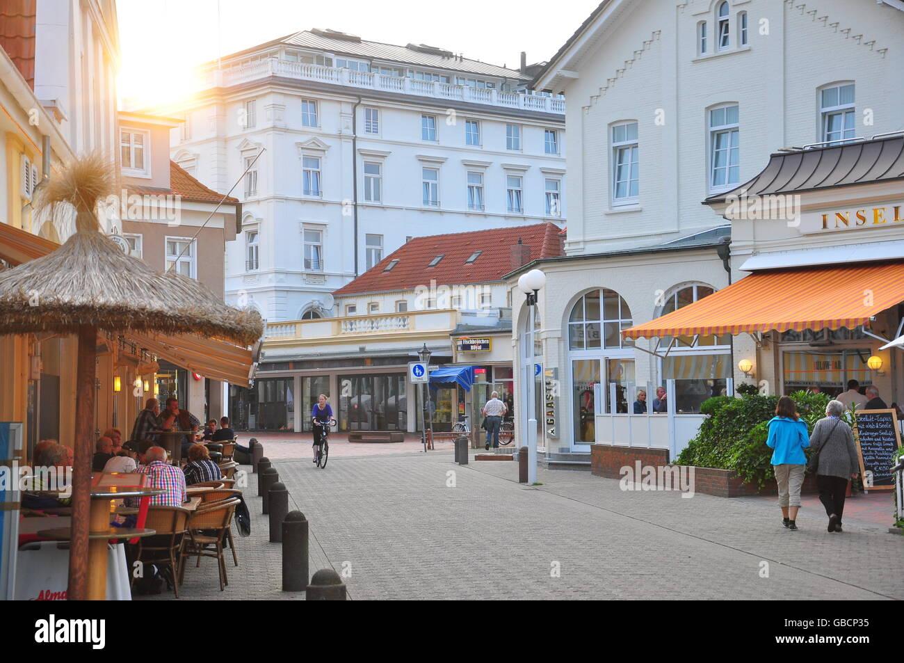 Sommer, Urlaub, Nordsee, Ostrfriesland, Ortsmitte, Nordseeinsel, Norderney, Niedersachsen Stock Photo
