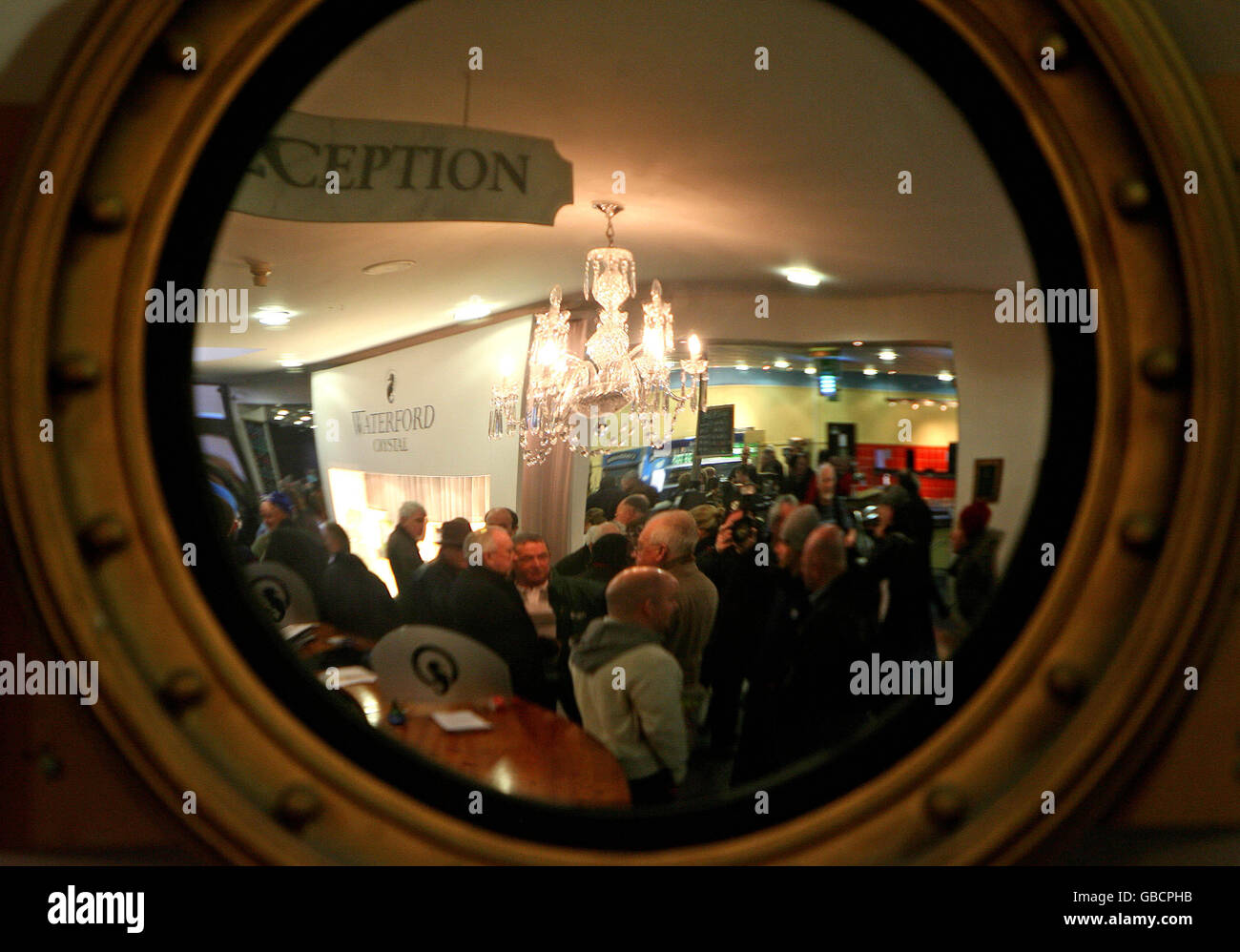 Workers occupy Waterford Crystal factory - Stock Image