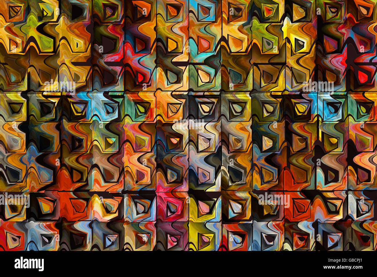 abstract colourful background, digitally generated Stock Photo