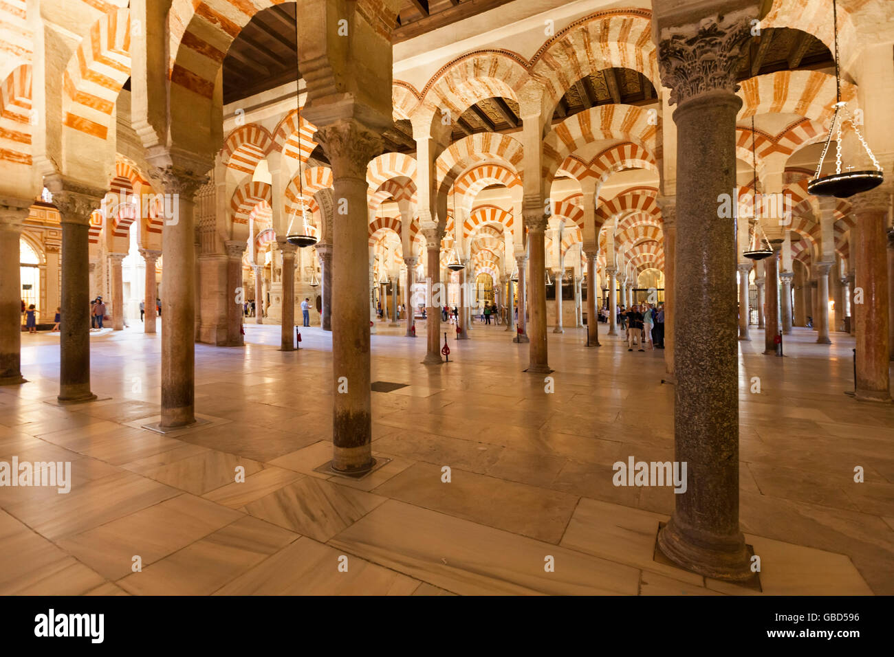 Great hall of the Mosque-Cathedral of Córdoba, Spain - Stock Image