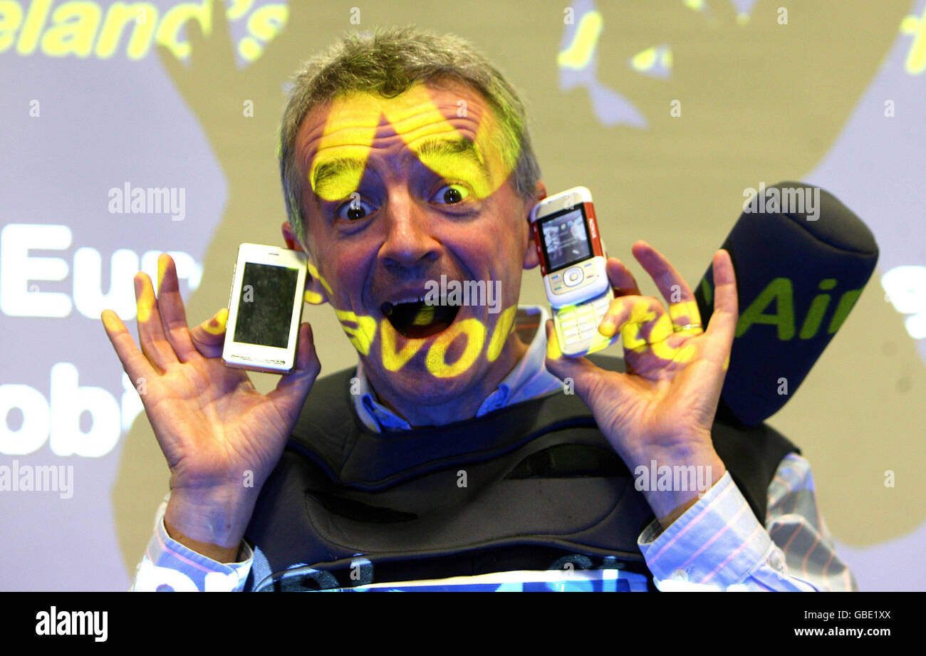 Ryanair goes mobile Stock Photo