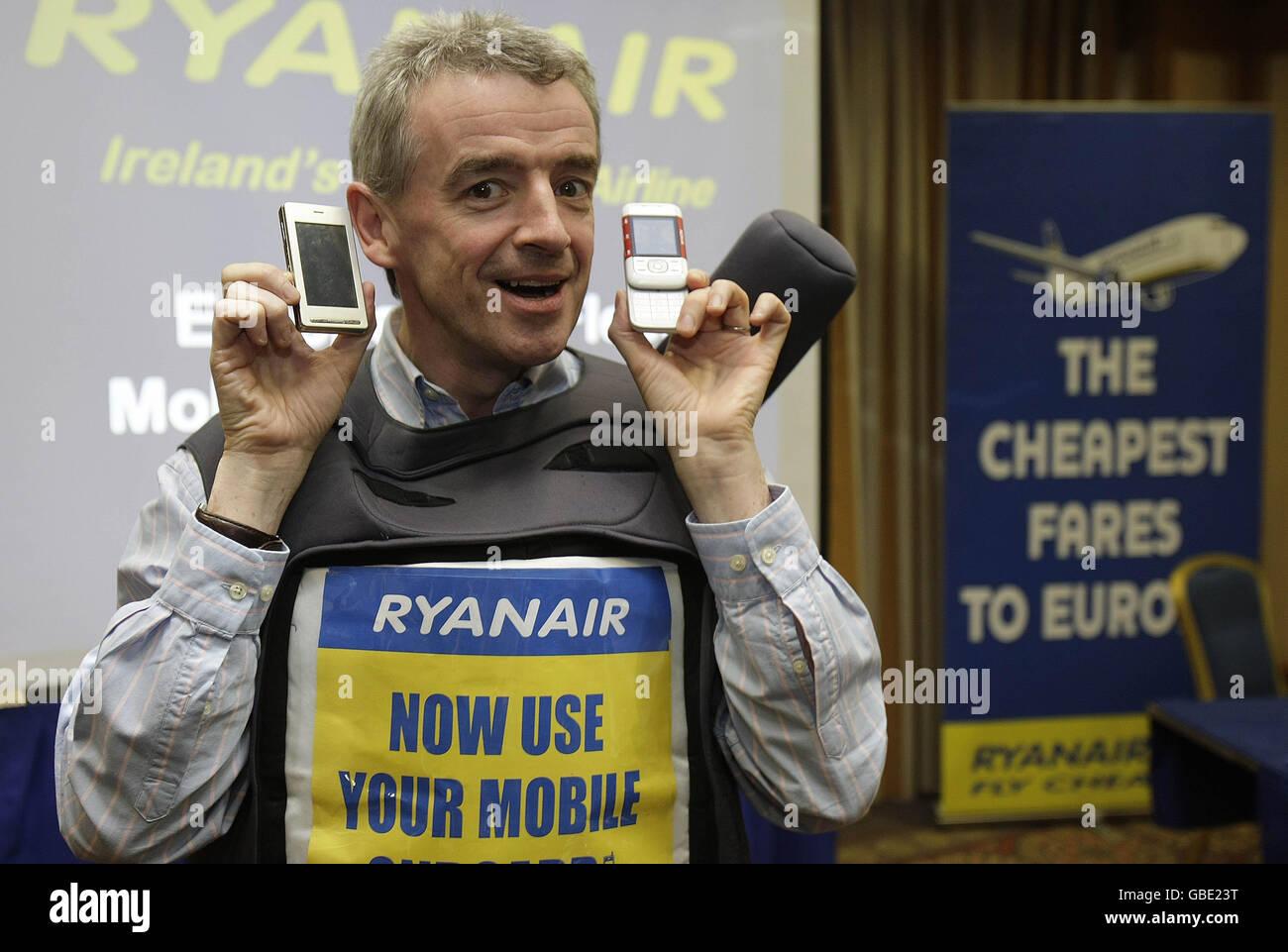 Ryanair goes mobile Stock Photo