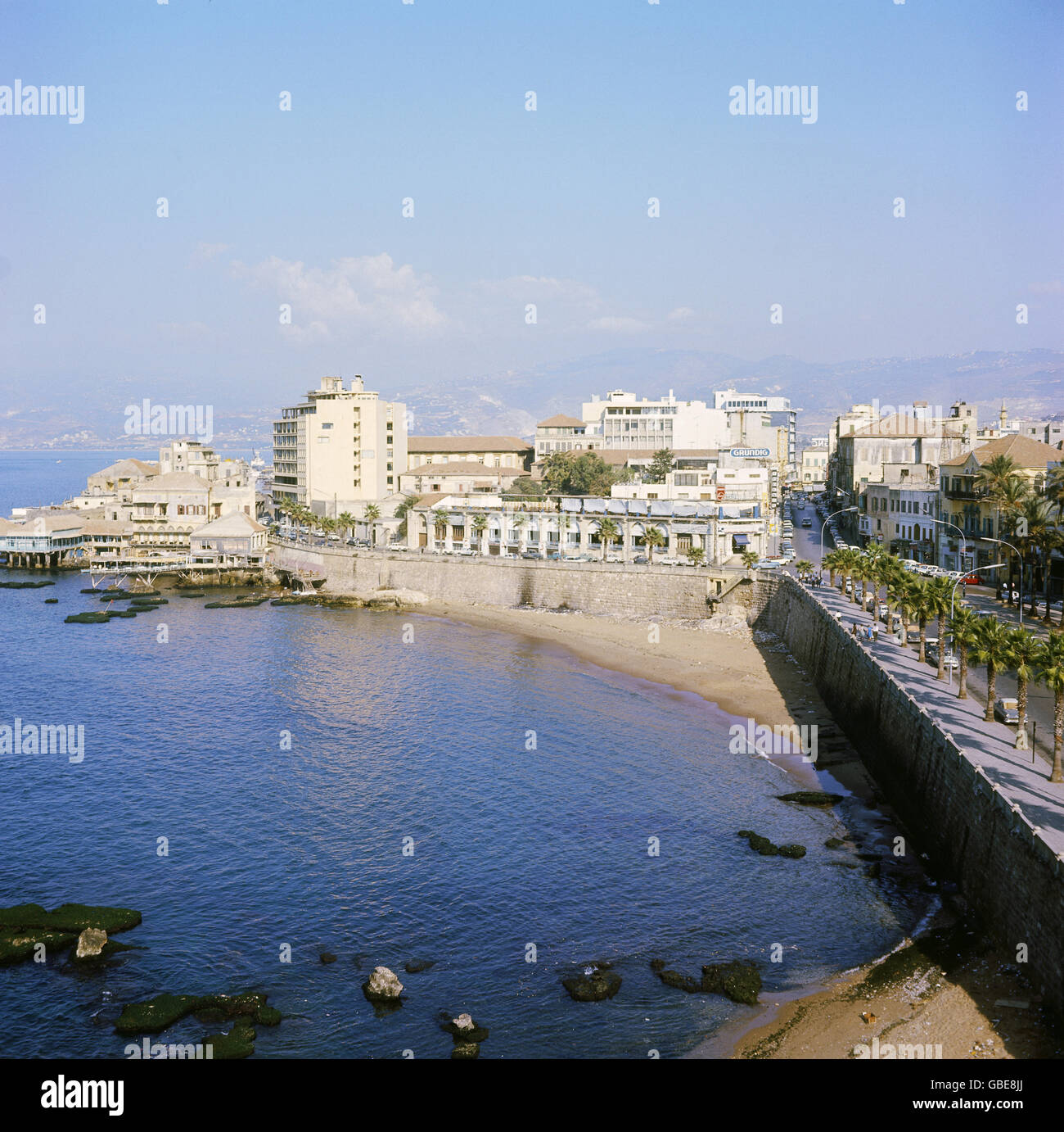 geography / travel, Lebanon, Beirut, view at harbour, 1970s, Additional-Rights-Clearences-NA - Stock Image