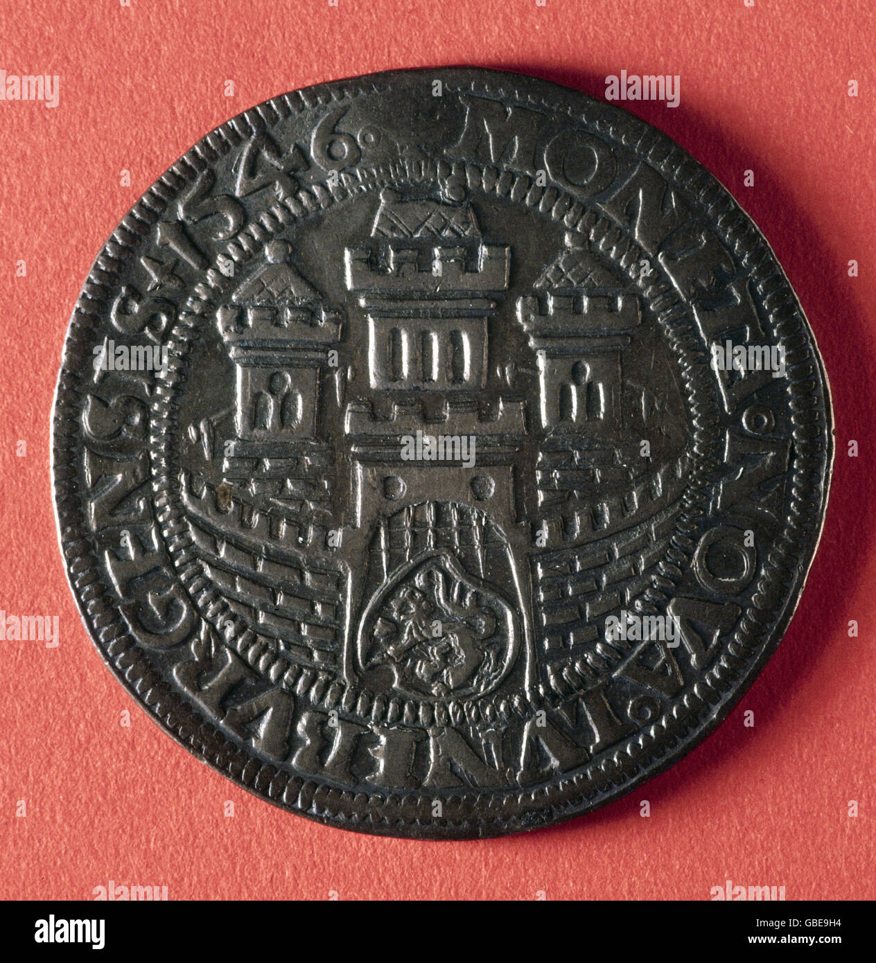 money / finance, coins, Germany, Witte coinage - Hanseatic cities, Lüneburg, 1546, Additional-Rights-Clearences - Stock Image