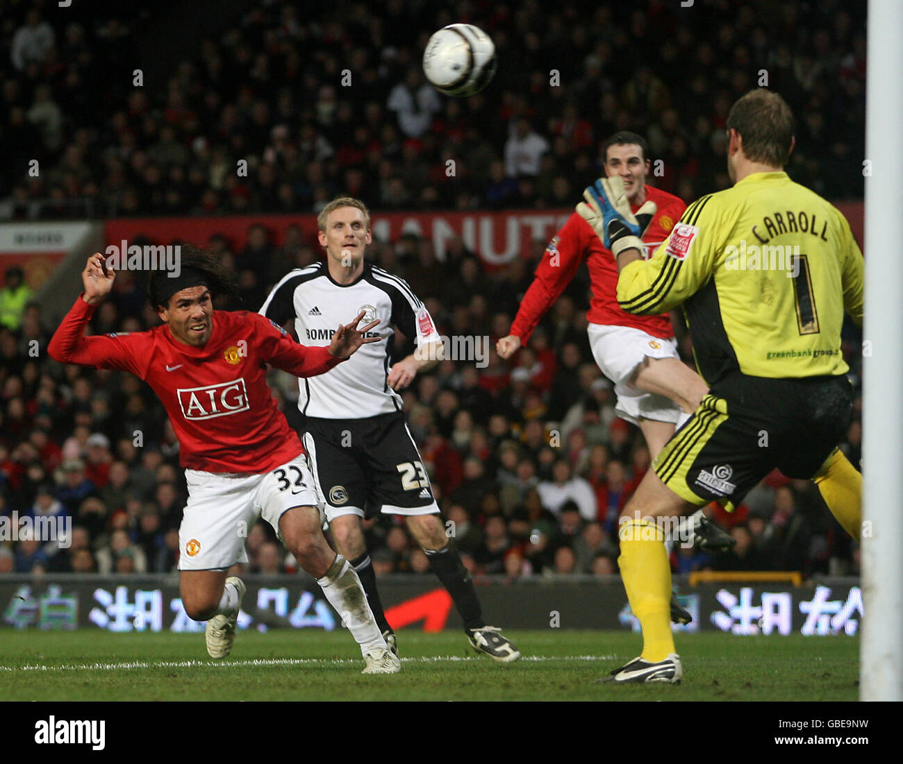 Soccer - Carling Cup - Semi Final - Second Leg - Manchester United v Derby County - Old Trafford - Stock Image