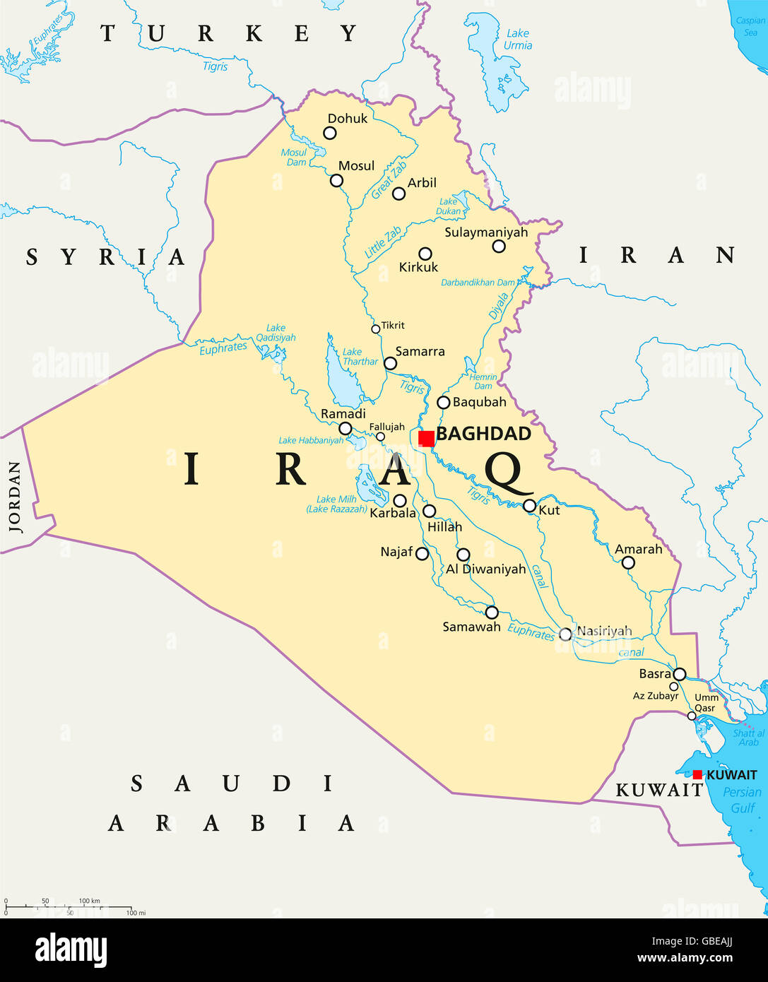 Baghdad Map Stock Photos & Baghdad Map Stock Images - Alamy