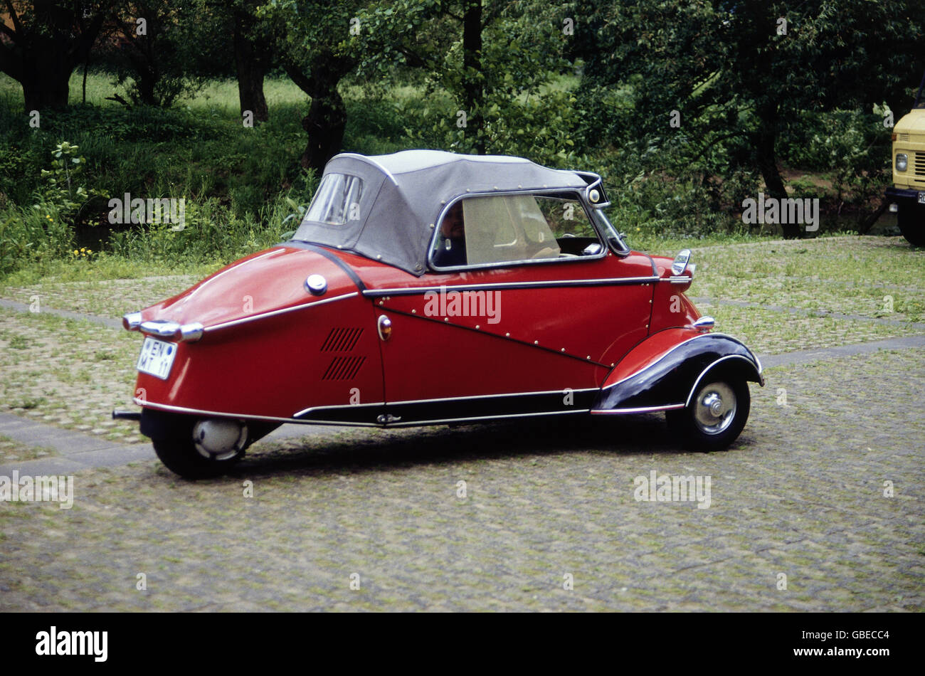 transport / transportation, car, vehicle variants, Messerschmitt, bubble car, 20th century, historic, historical, - Stock Image