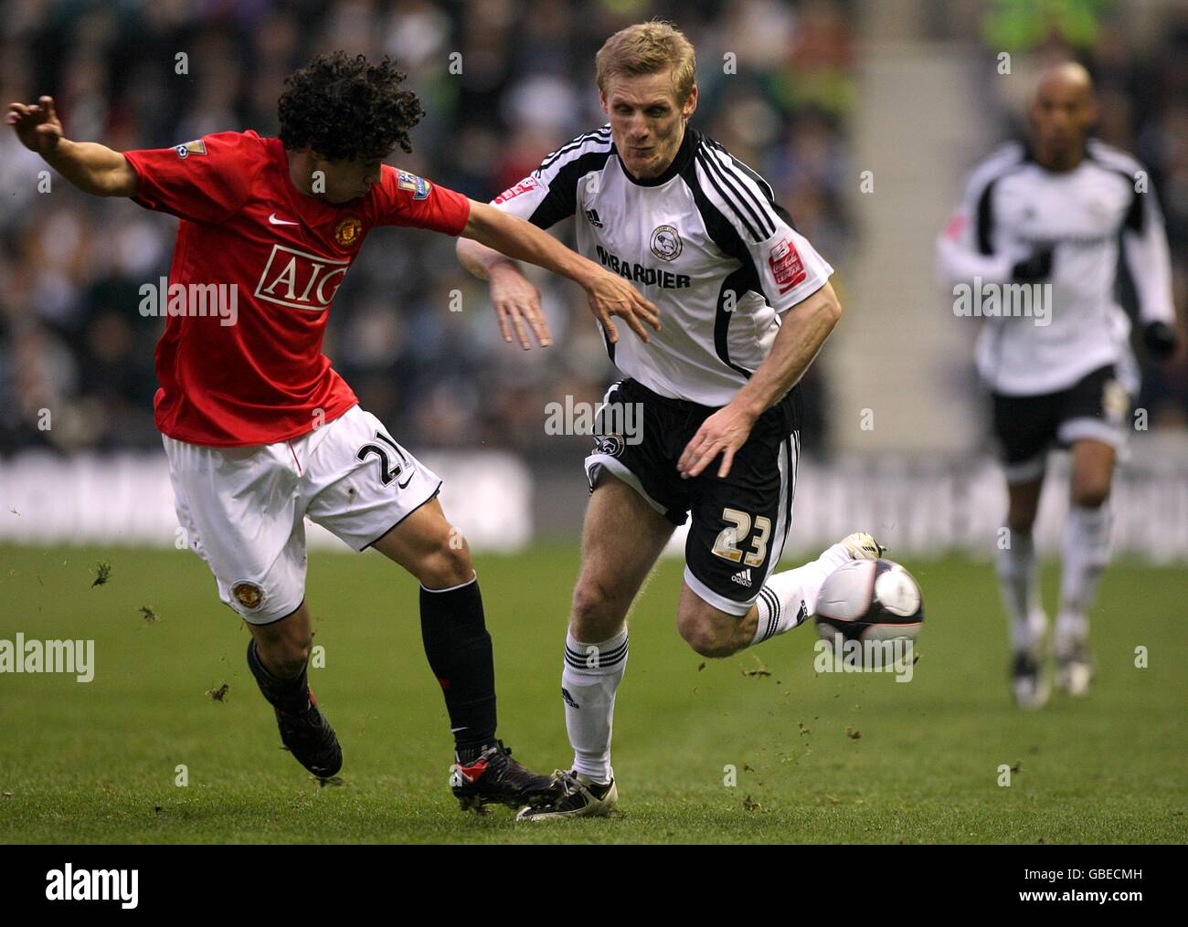 Soccer - FA Cup - Fifth Round - Derby County v Manchester United - Pride Park Stock Photo