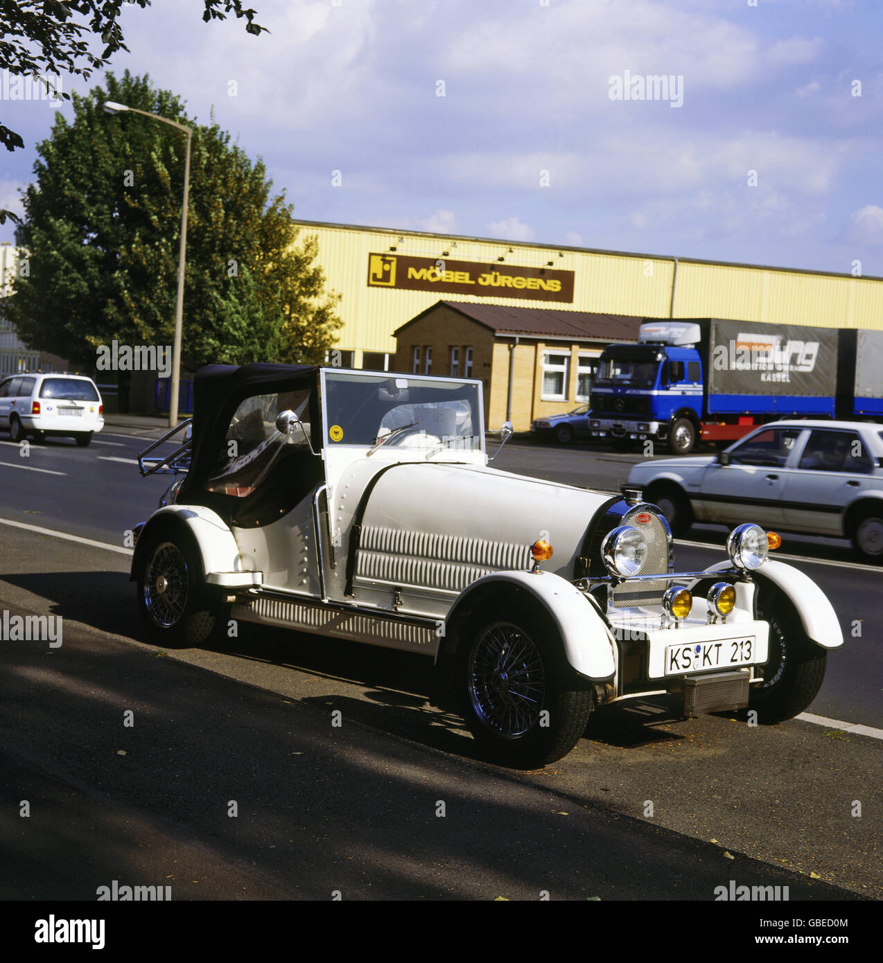 transport / transportation, car, vehicle variants, veteran car, Bugatti, historic, historical, automobile, automobiles, - Stock Image