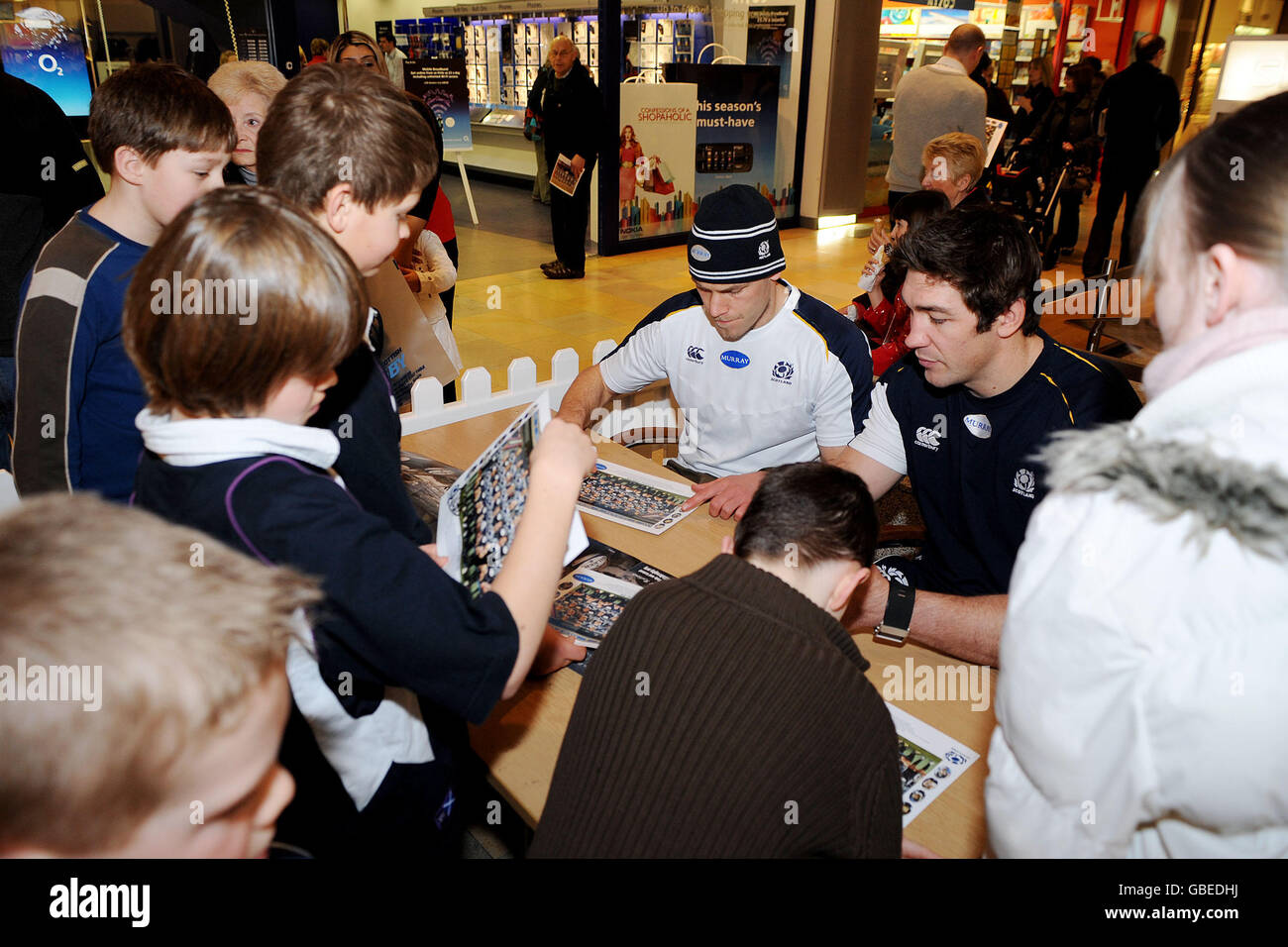 Rugby Union - Scotland Rugby Fun Day - Ocean Terminal - Stock Image