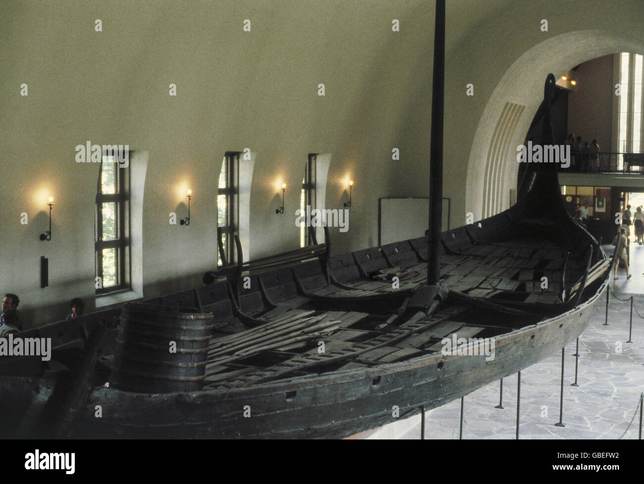 transport / transportation, navigation, vikings, Oseberg ship, 9th century, Viking ship museum, Bygdoy, Oslo, Stock Photo