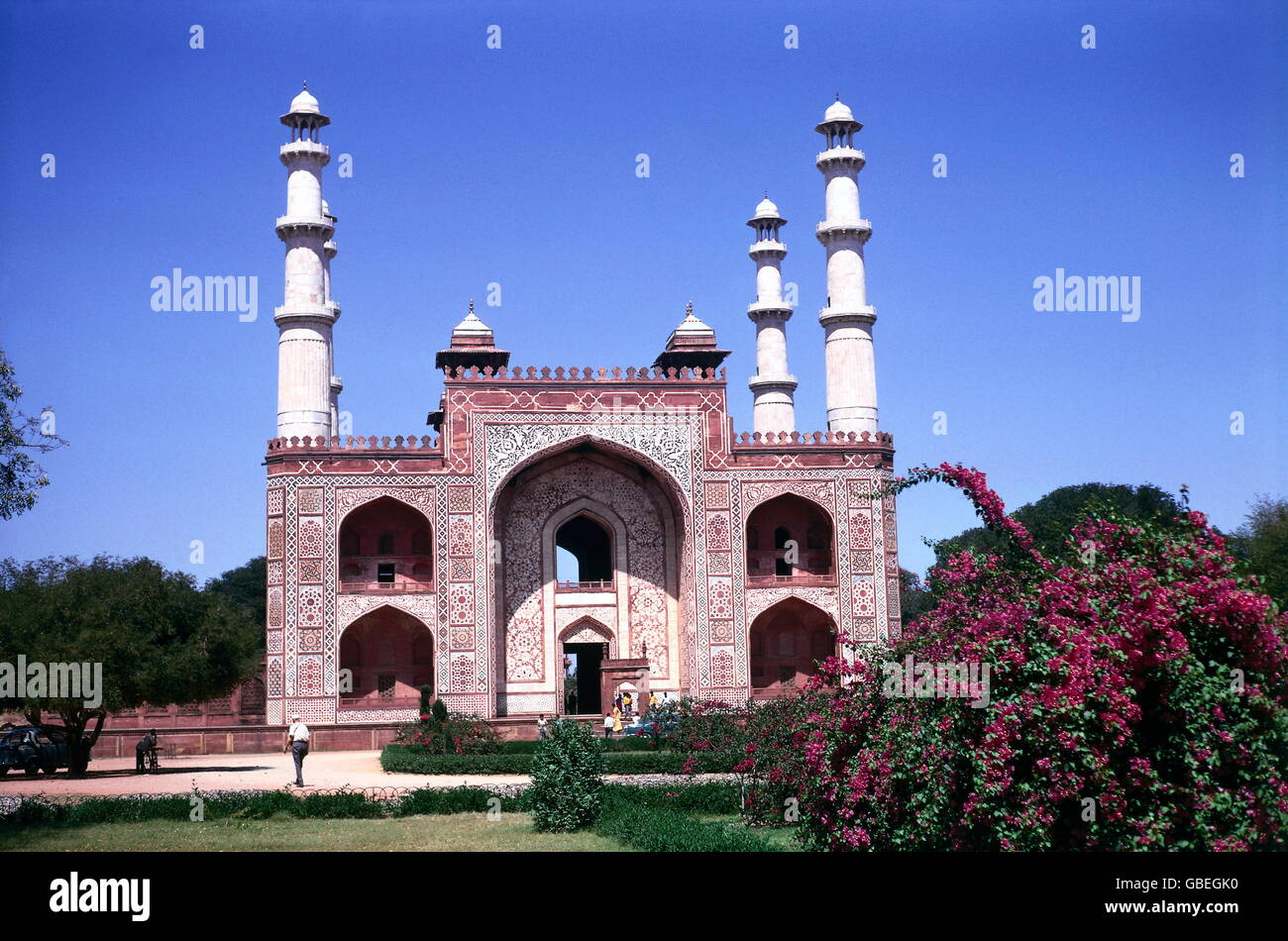 geography / travel, India, Agra, Tomb of Akbar, circa 1980s, Additional-Rights-Clearences-NA - Stock Image
