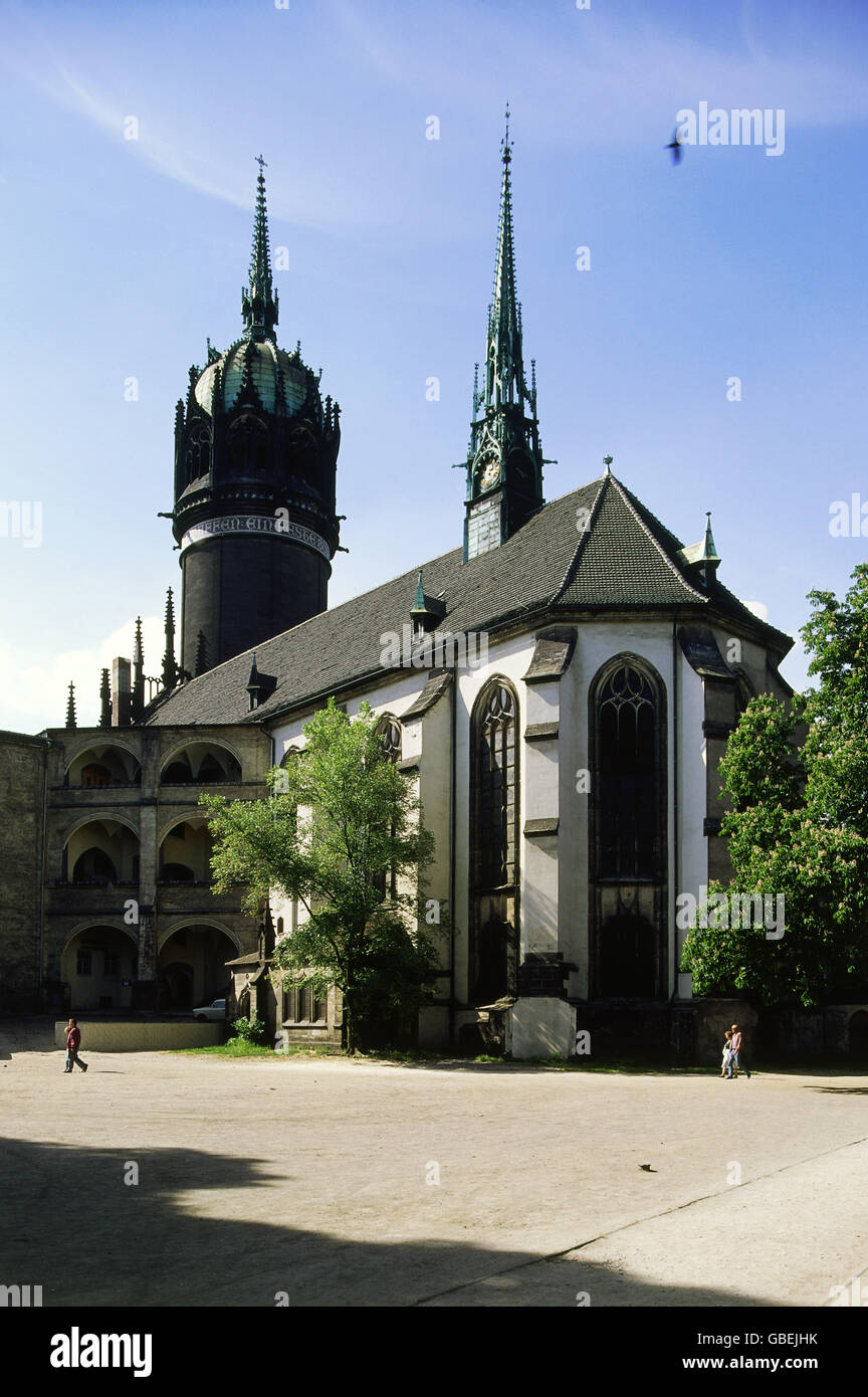 geography / travel, Germany, Wittenberg, churches, All Saint's Church, exterior view, circa 1990, Additional - Stock Image