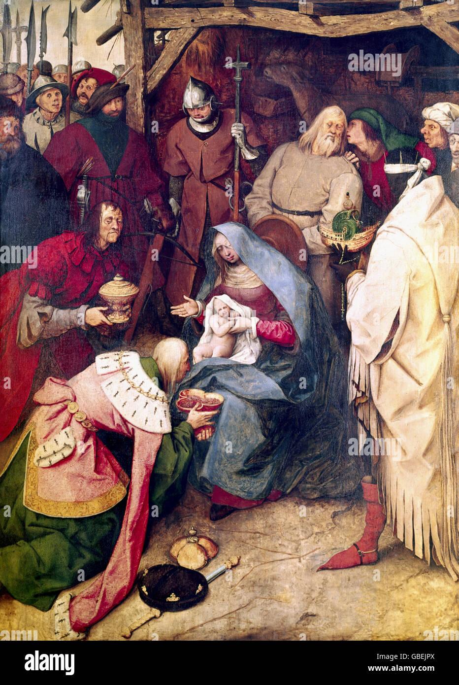 Adoration of the Magi by Pieter Brueghel the Elder - Stock Image