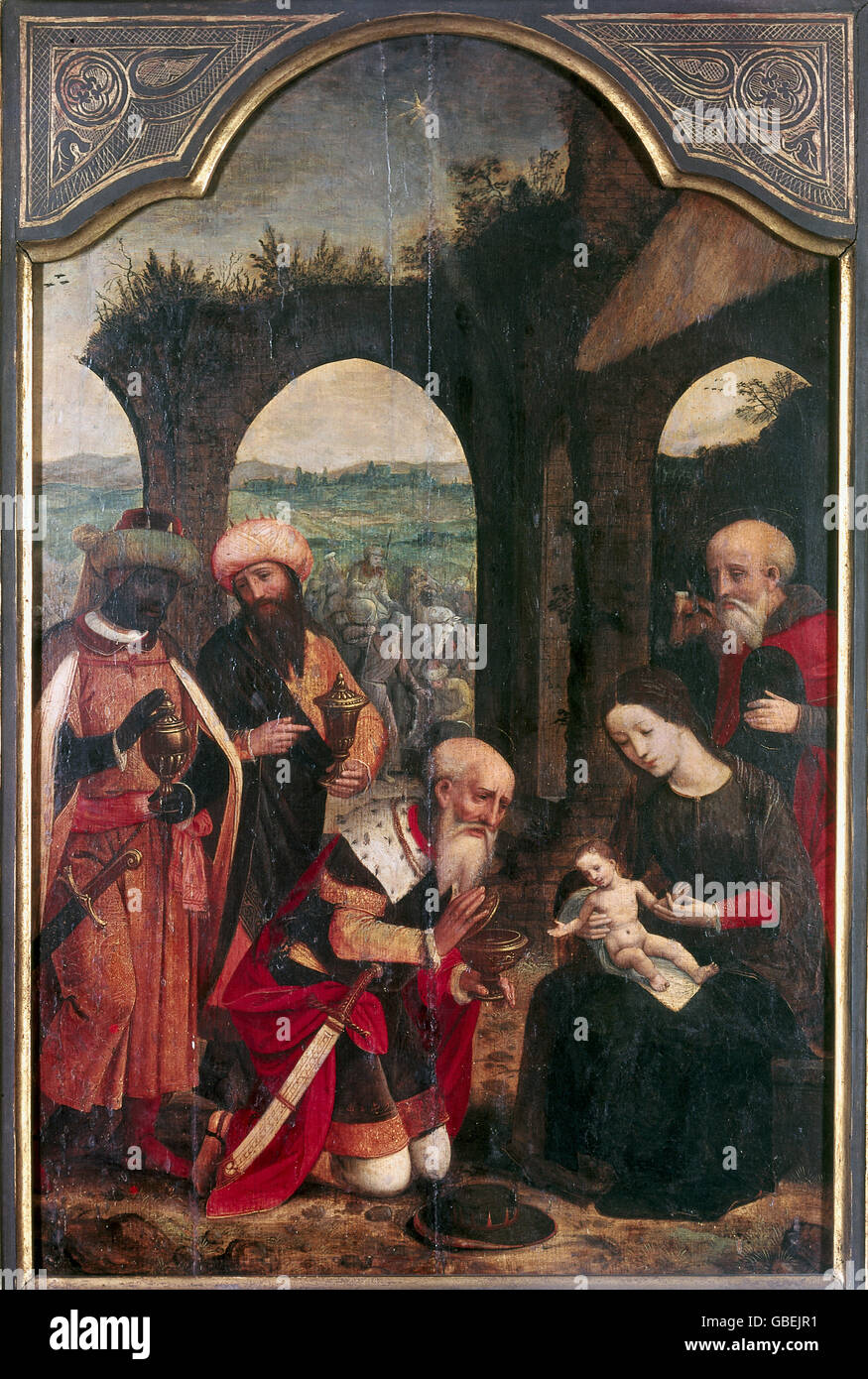Adoration of the Magi, ca. 1530/1540 - Stock Image