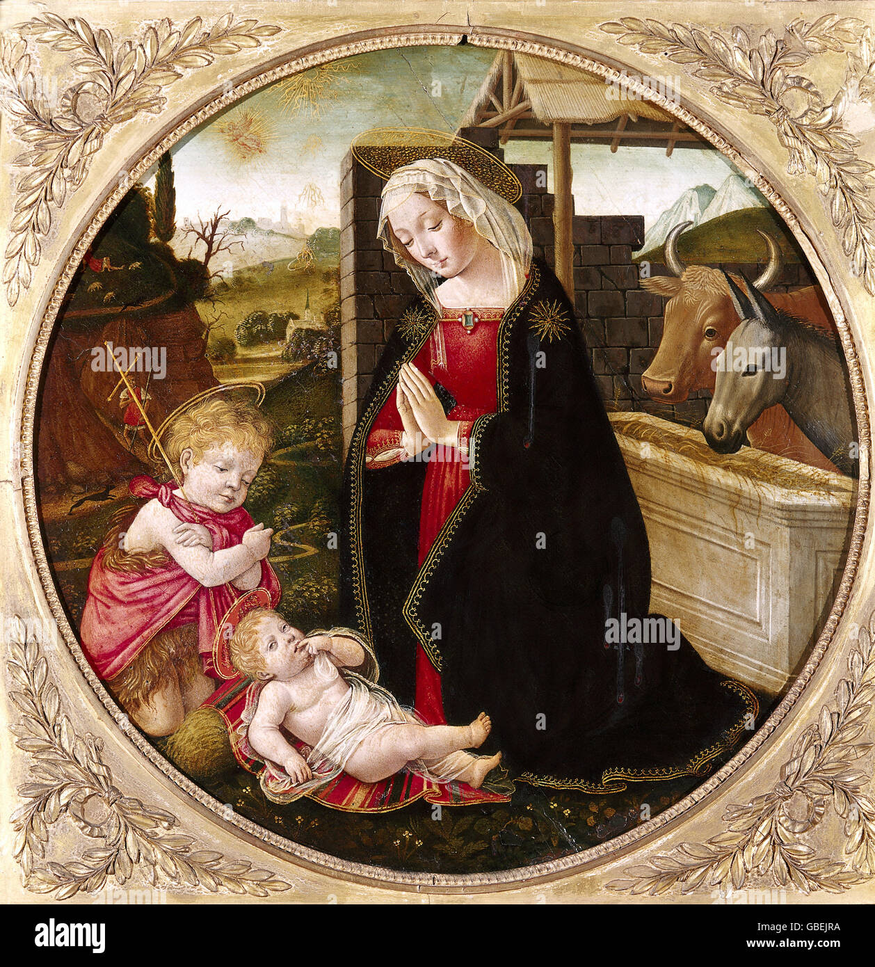 The Nativity by the Master of the female half-lengths, circa 1530 - 1540 - Stock Image