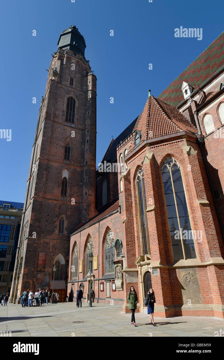 Elisabethkirche, Breslau, Niederschlesien, Polen Stock Photo