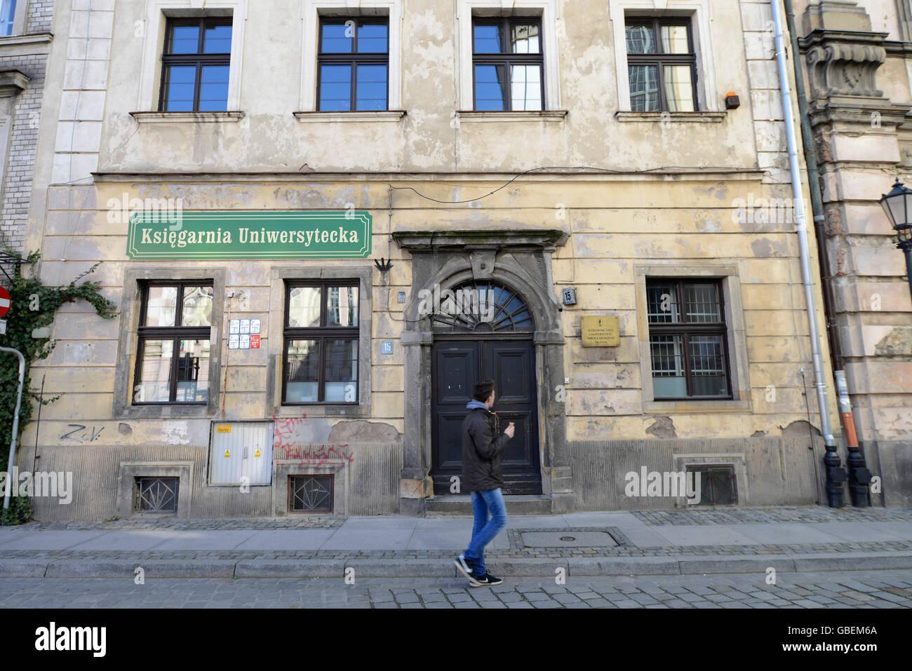 Buchhandlung, Breslau, Niederschlesien, Polen Stock Photo