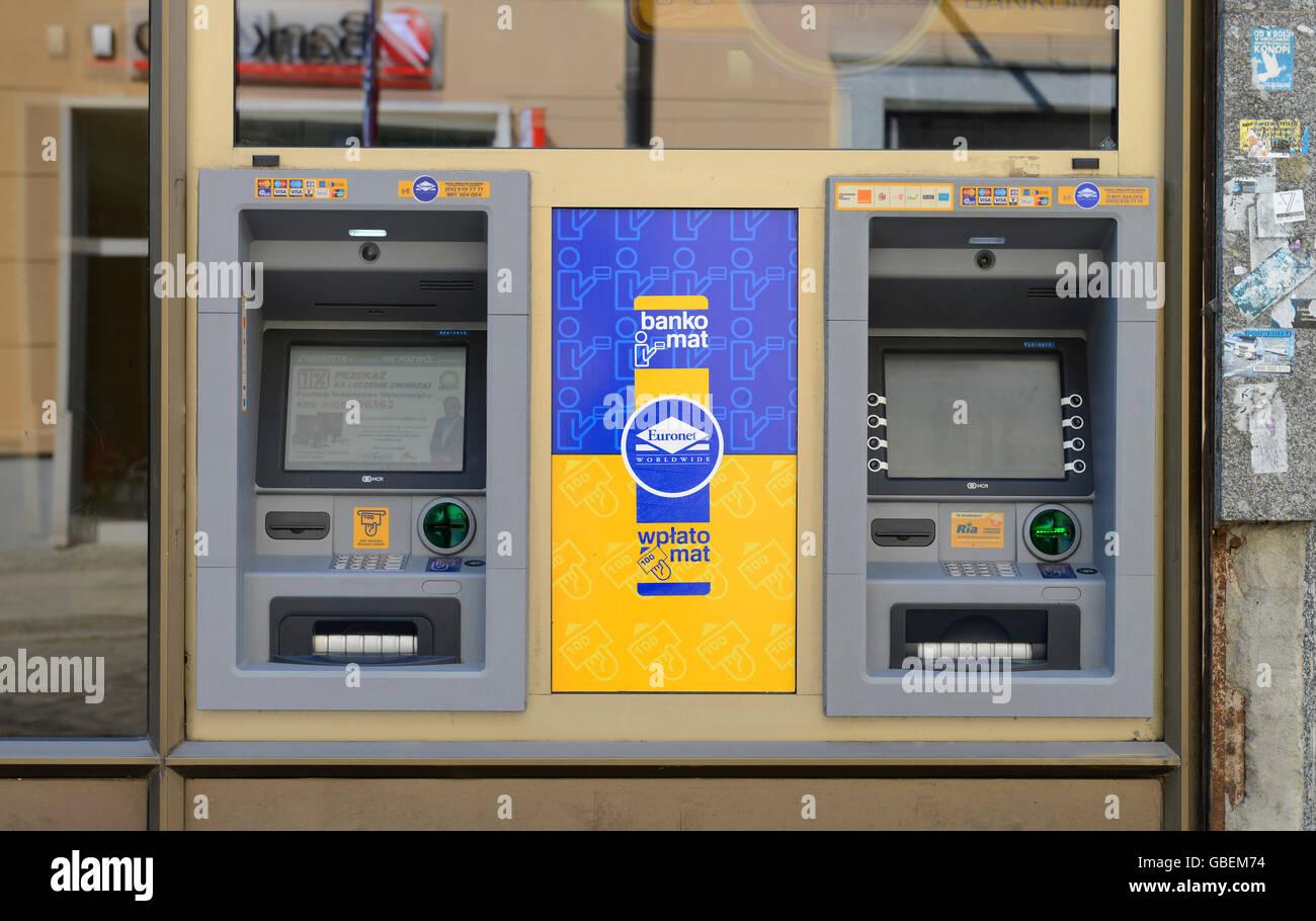 Geldautomat, Breslau, Niederschlesien, Polen - Stock Image