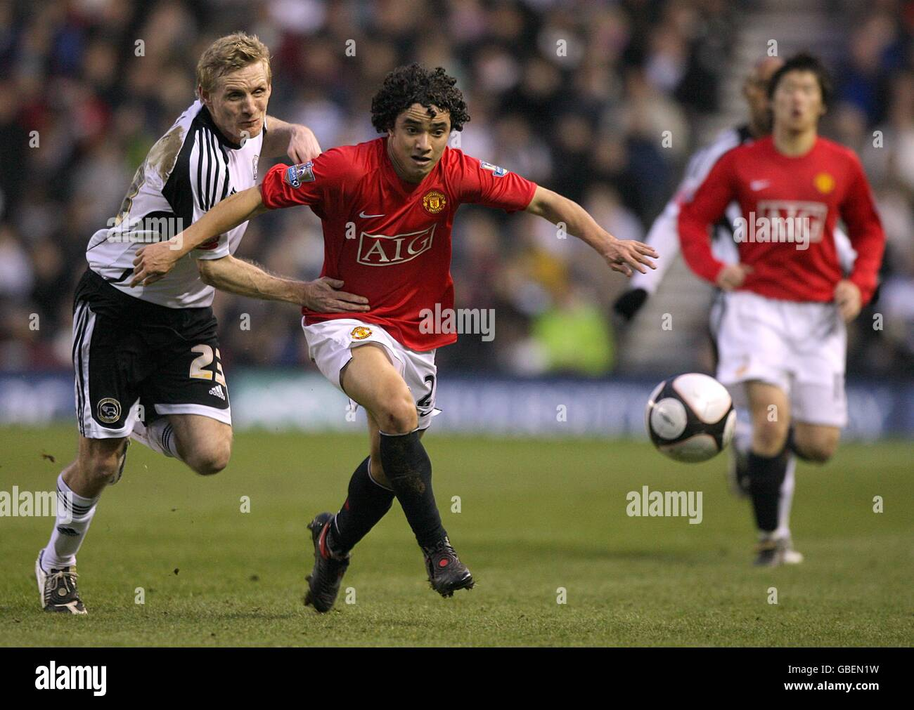 Soccer - FA Cup - Fifth Round - Derby County v Manchester United - Pride Park - Stock Image