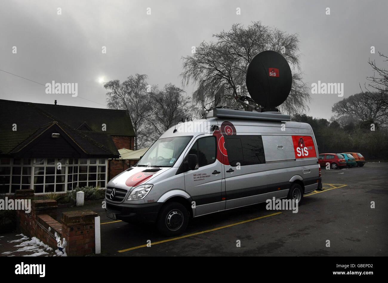 TV Broadcast vehicles - Stock Image