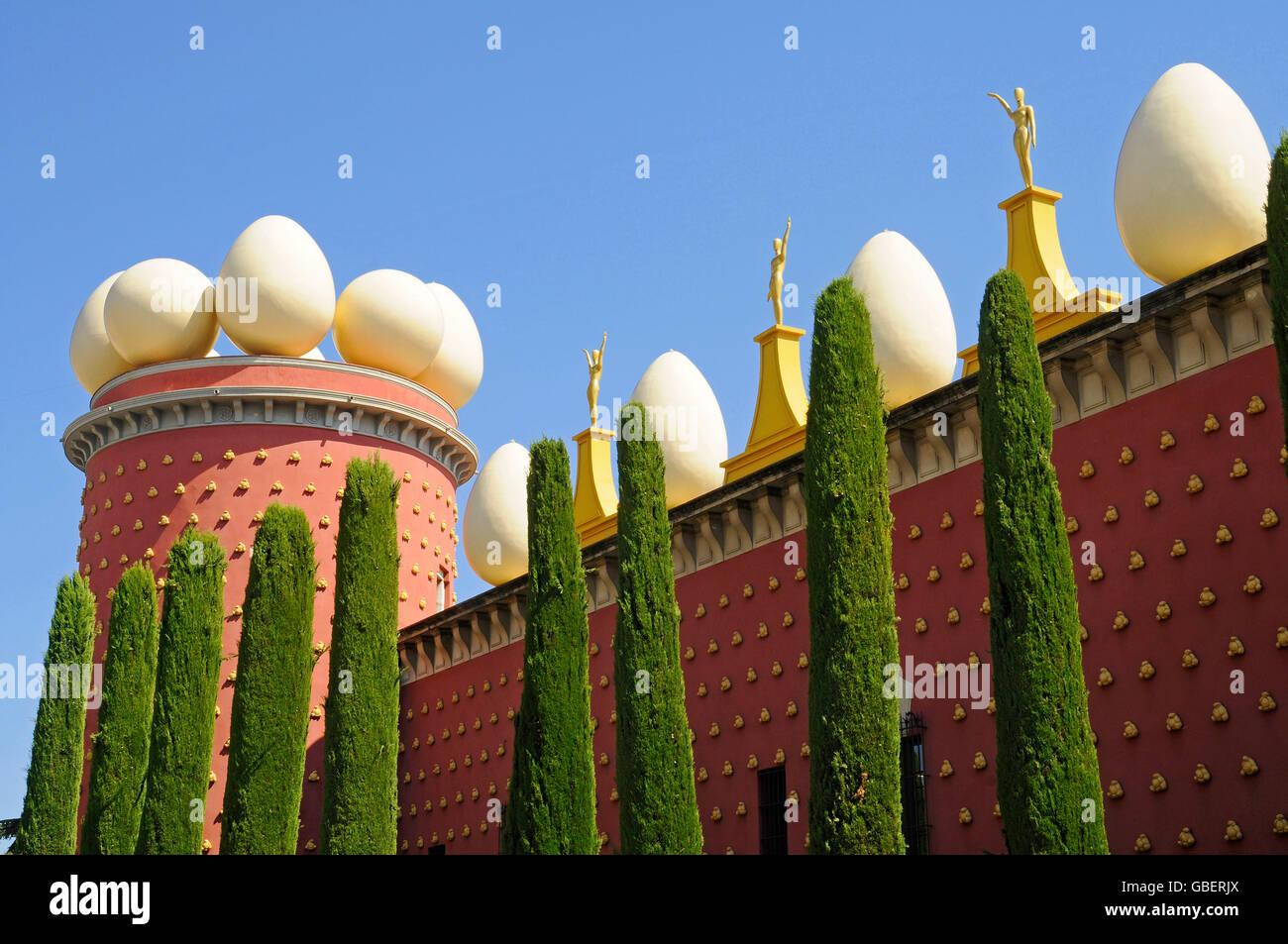 Dali Theatre and Museum, Figueres, Costa Brava, Catalonia, Spain / Salvador Dali, Teatre Museu Dali - Stock Image
