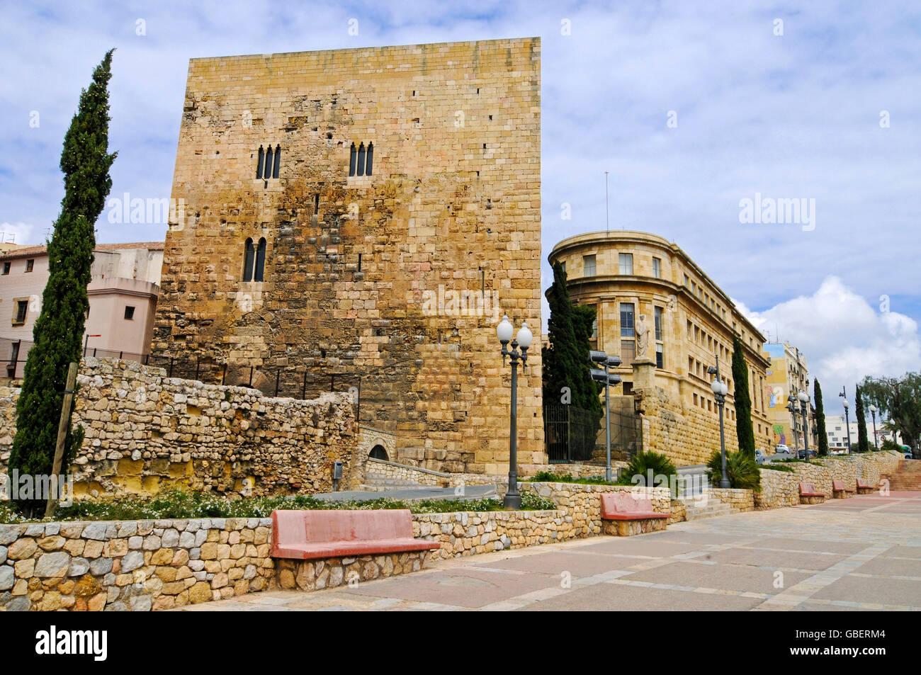 Roman tower, Tarragona, Catalonia, Spain / Torre Romana - Stock Image
