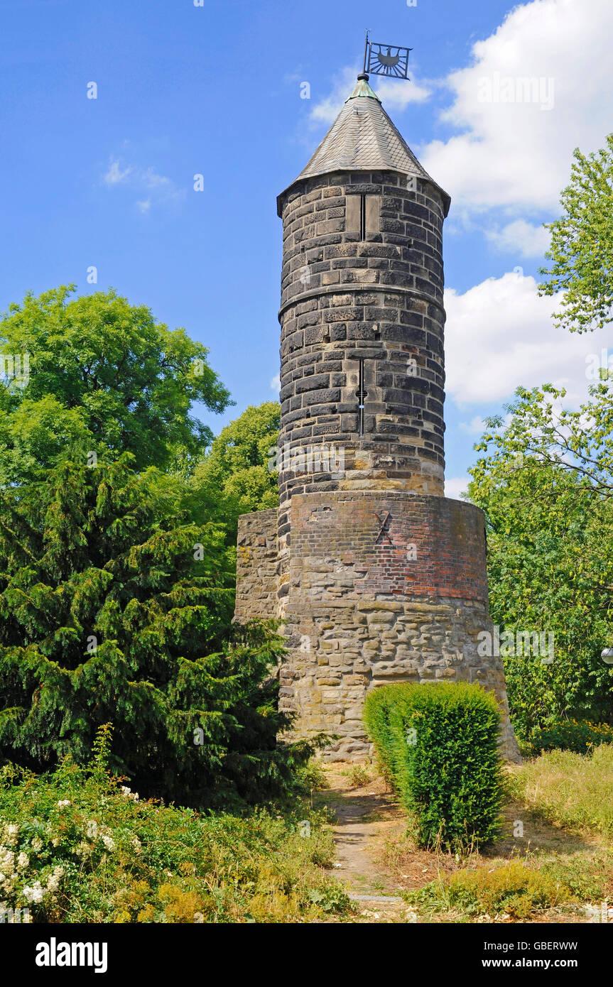 Stone Tower, by 1254, near Westfalenhallen, heritage building, Dortmund, North Rhine-Westphalia, Germany / Steinerner - Stock Image