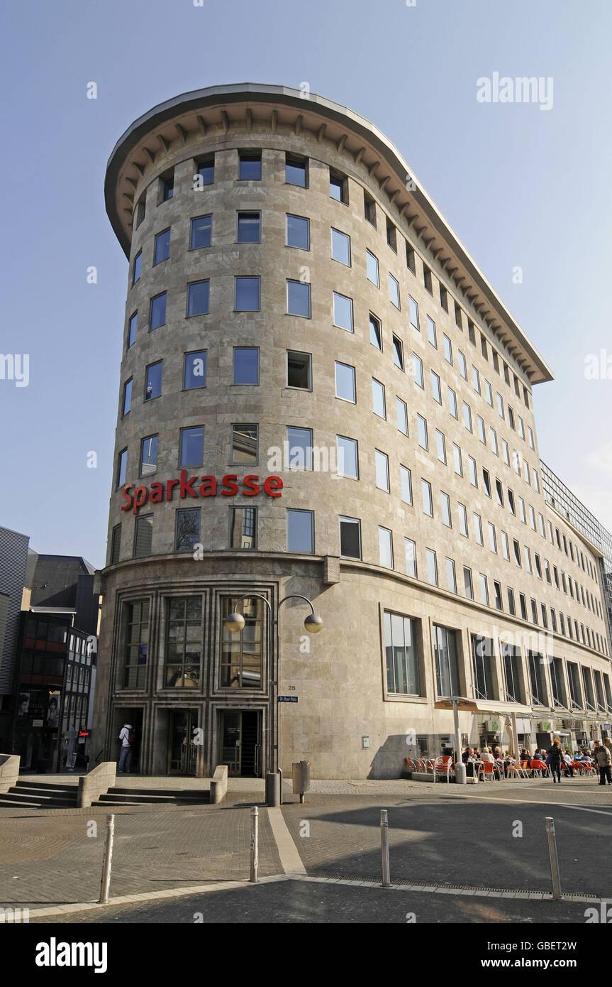 Historic Sparkasse bank building, Bochum, North Rhine-Westphalia, Germany - Stock Image
