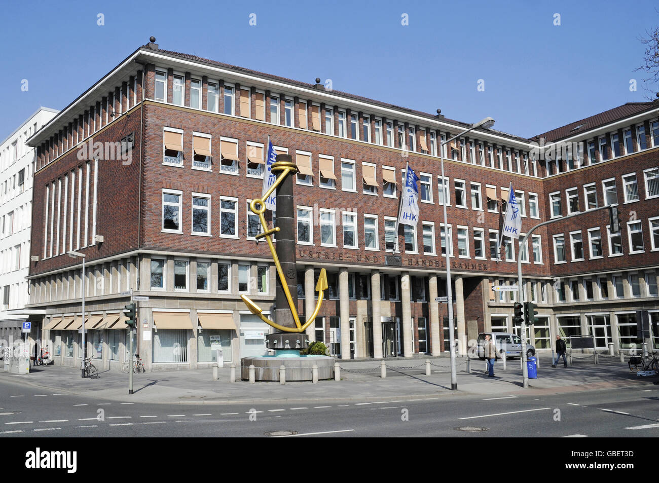 Golden Anchor, Lower Rhine Chamber of Commerce, Duisburg, North Rhine-Westphalia, Germany - Stock Image