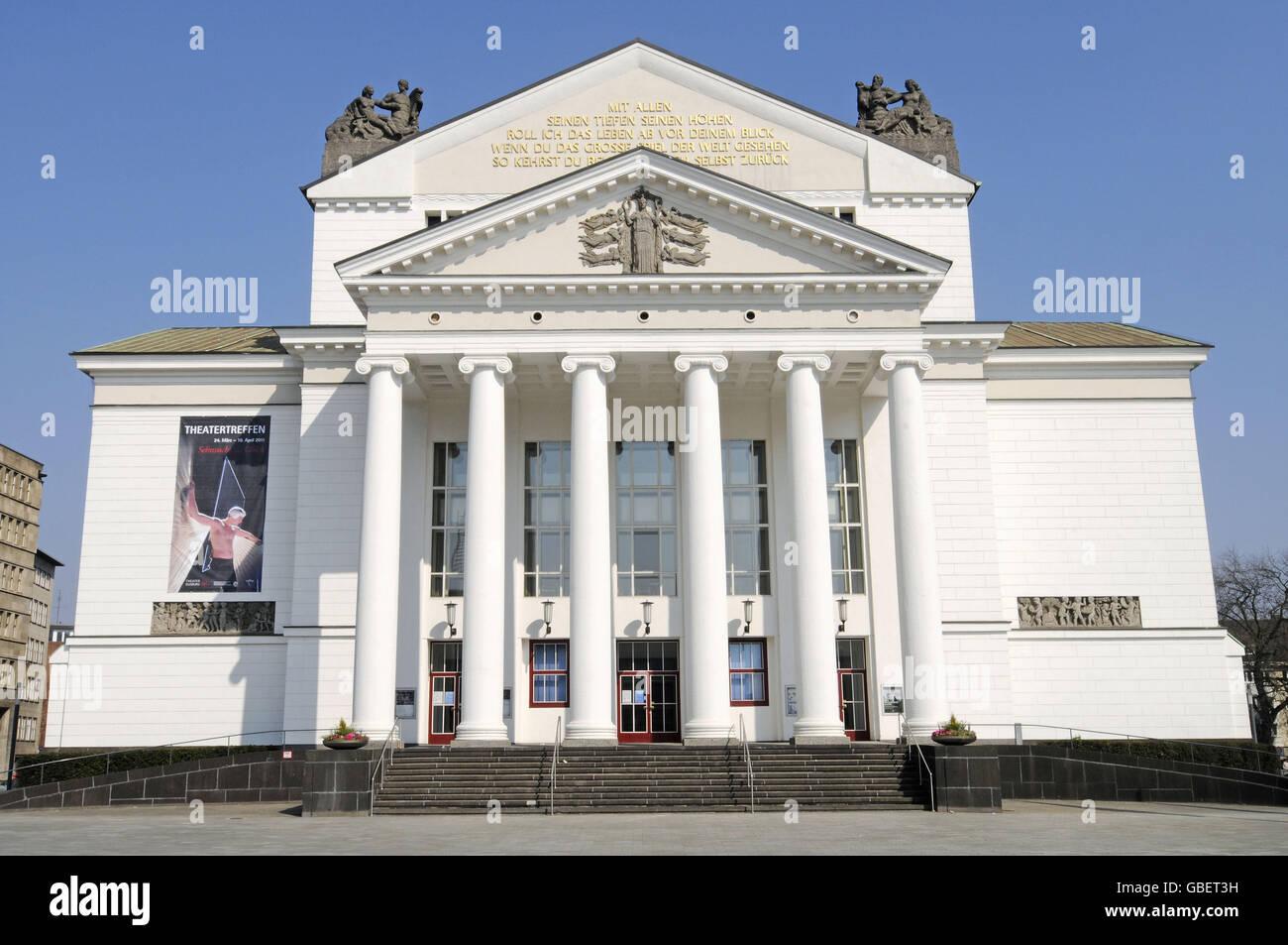 Theatre, Duisburg, North Rhine-Westphalia, Germany - Stock Image