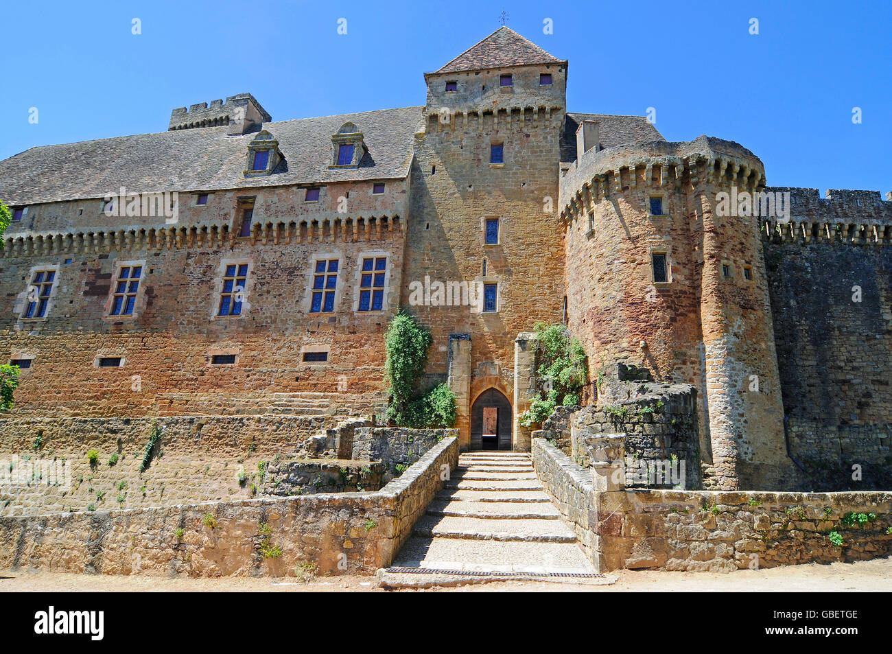 Chateau de Castelnau-Bretenoux, Museum, Prudhomat, Departement Lot, Midi-Pyrenees, France Stock Photo