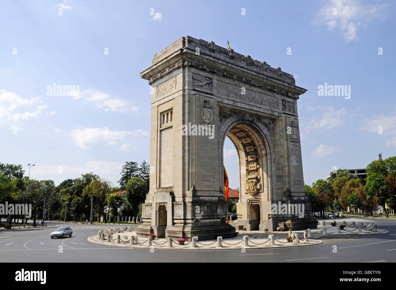 Triumphal Arch, Bucharest, Romania - Stock Image