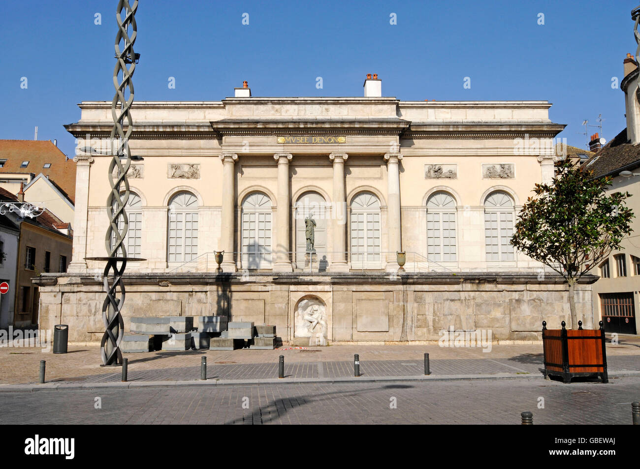 museum denon chalon sur saone saone et loire burgundy france stock photo 110350650 alamy. Black Bedroom Furniture Sets. Home Design Ideas