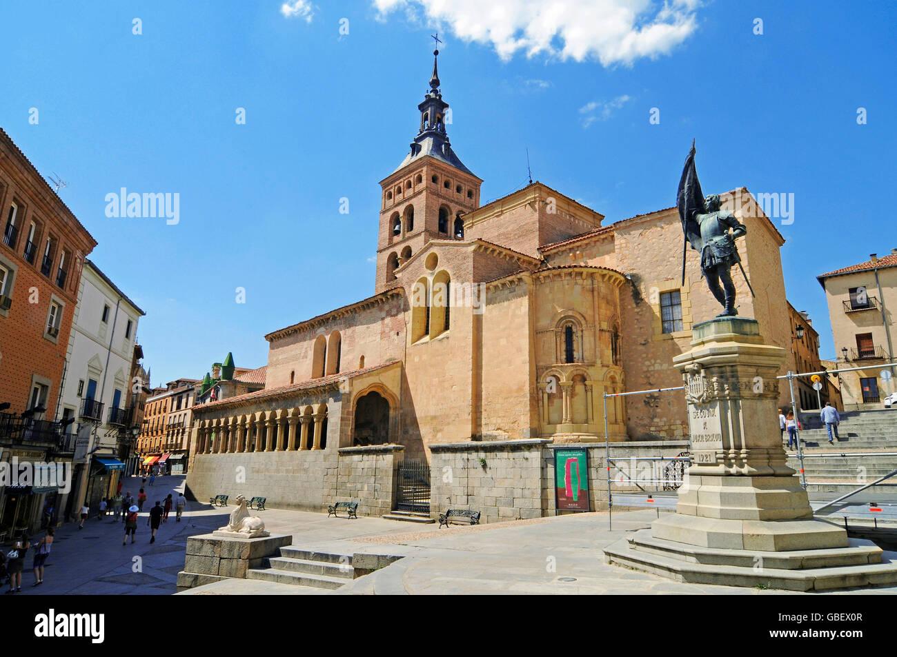 Church San Martin, Plaza San Martin, Segovia, Castile and Leon, Spain / Iglesia de San Martin, Castilla y Leon - Stock Image
