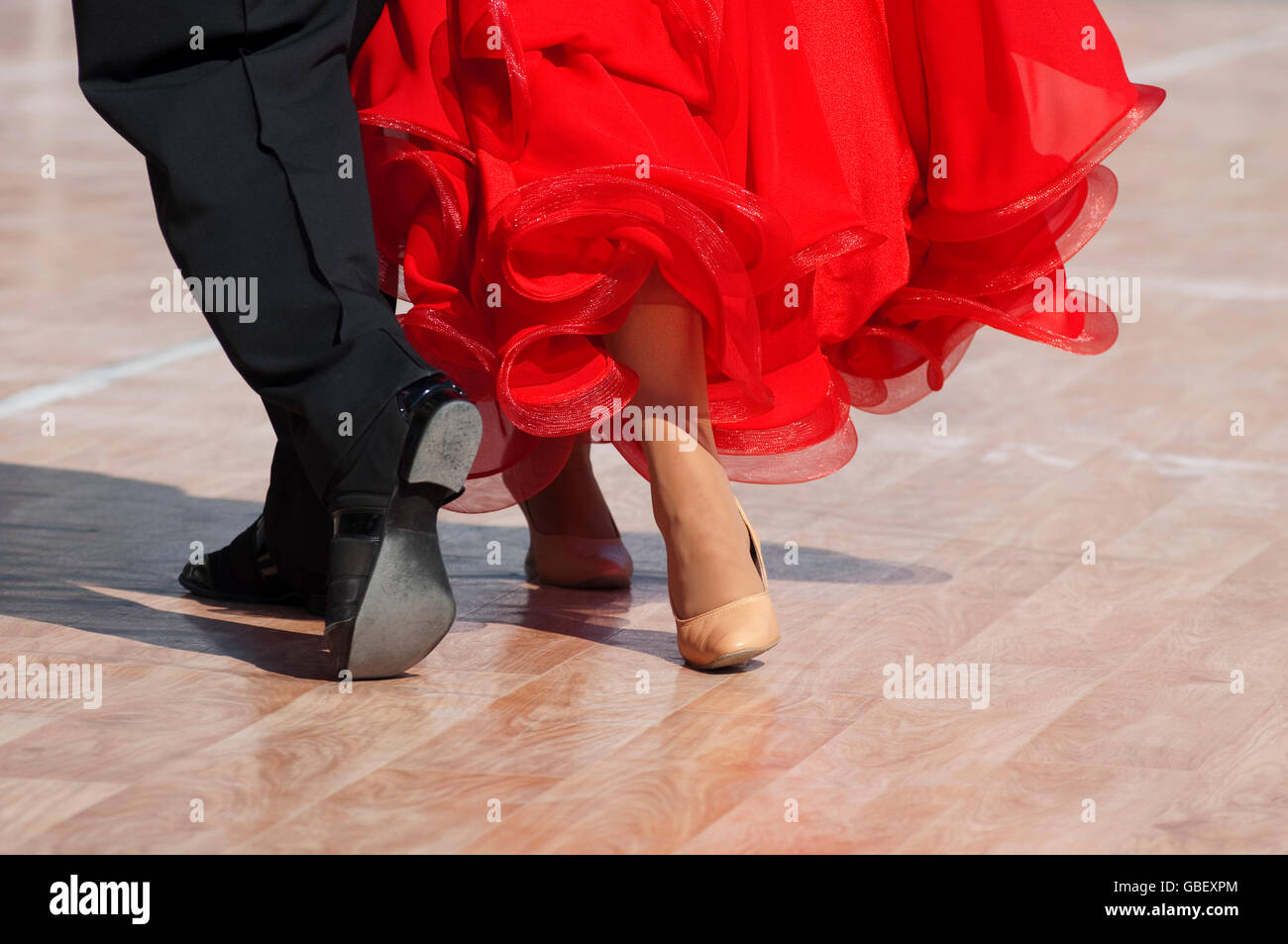 Feet Detail of Couple Dancing - Stock Image
